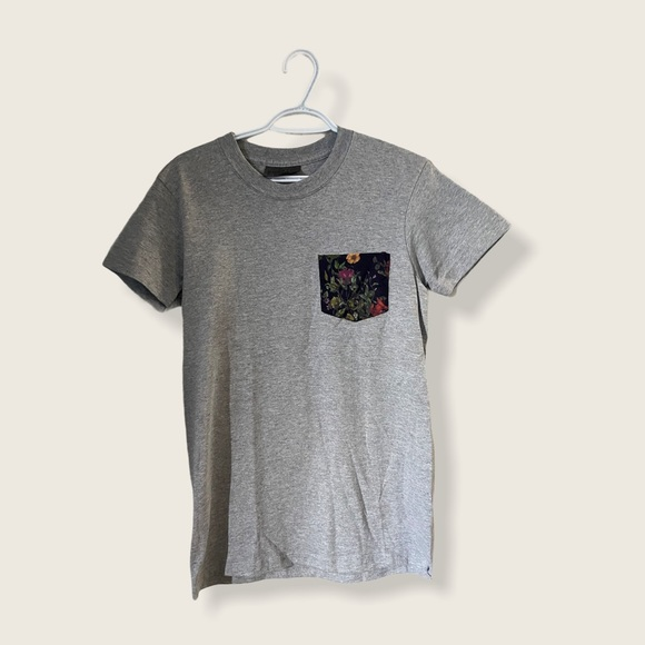 Naked & Famous Denim Gray Tee Small